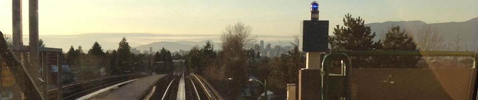 Downtown Vancouver from the Nanaimo SkyTrain station