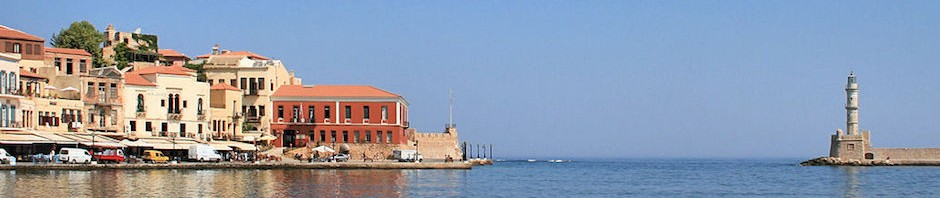 View of Chania Harbor and Lighthouse